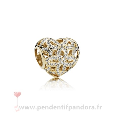 Complet Pandora Pandora Collections Amour Appreciation Charme Clear Cz 14K Or