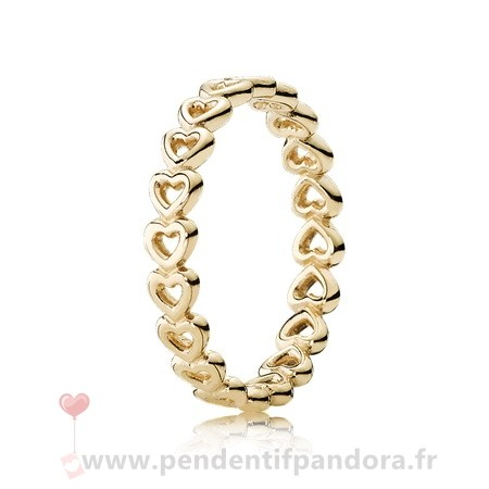 Complet Pandora Pandora Collections Bague Amour Linked 14K Jaune Or