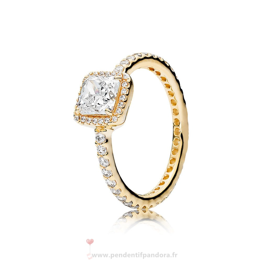 Complet Pandora Pandora Collections Bague Elegance Intemporelle 14K Or Clear Cz