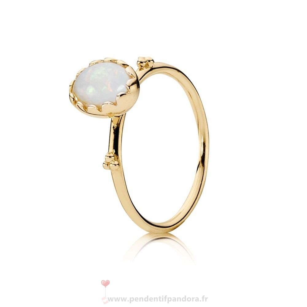 Complet Pandora Pandora Collections Bague Sweet Sweetness Blanc Opal 14K Or