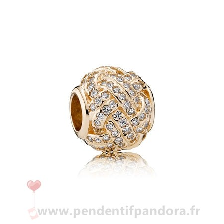 Complet Pandora Pandora Collections Breloque Sparkling Amour Knot 14K Or Clear Cz