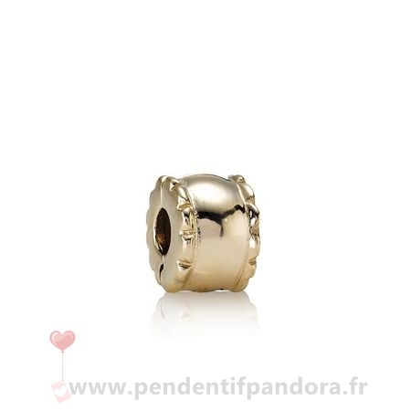 Complet Pandora Pandora Collections Clip Biseaute 14K Or