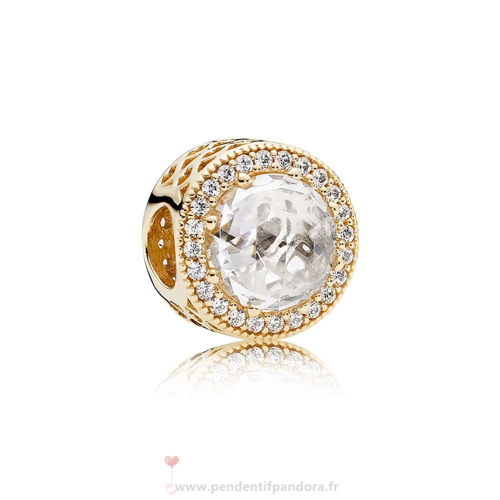 Complet Pandora Pandora Collections Radiant Coeurs Charme 14K Or Clear Cz