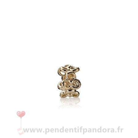 Complet Pandora Pandora Collections Trinity Fleurs Spacer 14K Or
