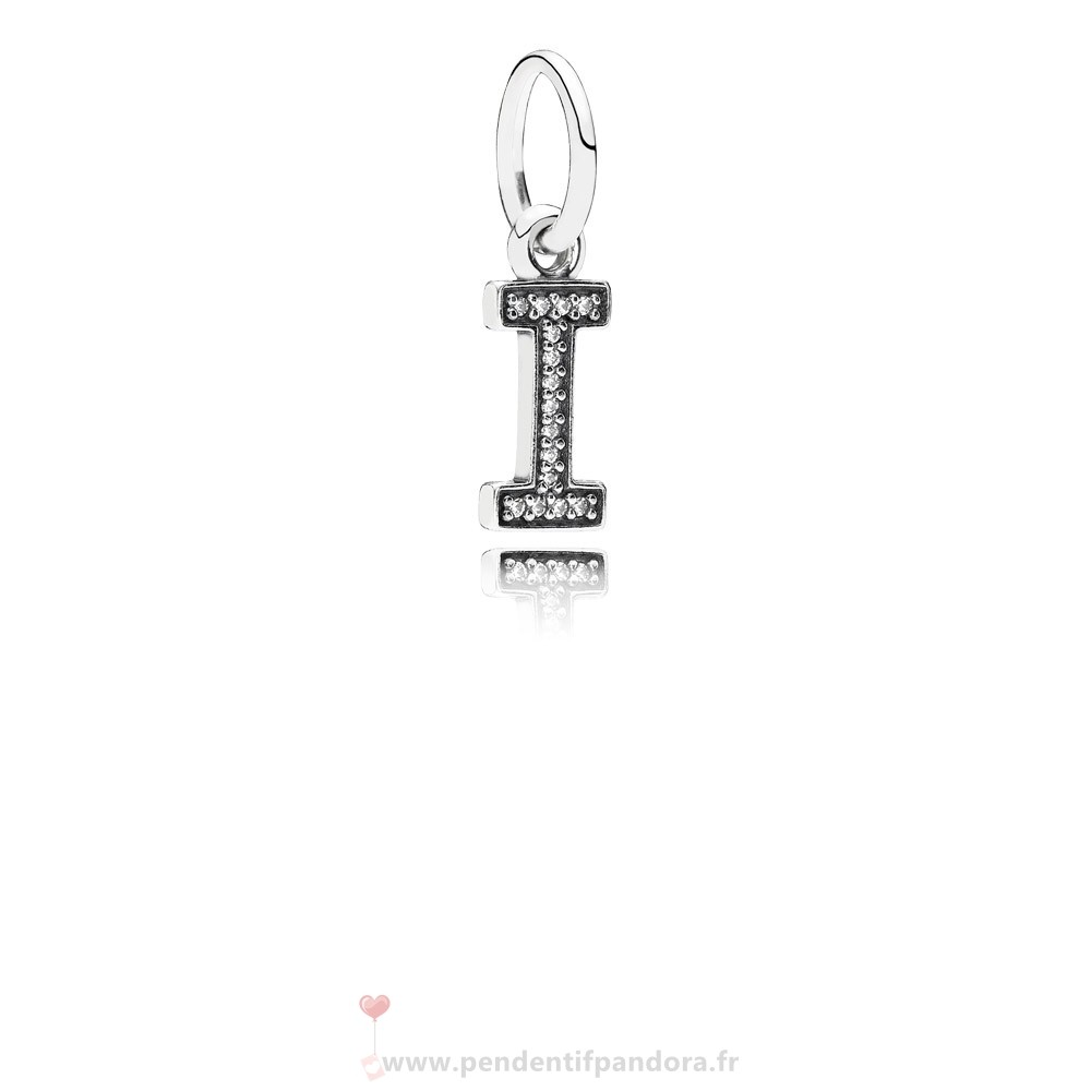 Complet Pandora Pandora Alphabet Symbols Charms Lettre I Dangle Charm Clear Cz
