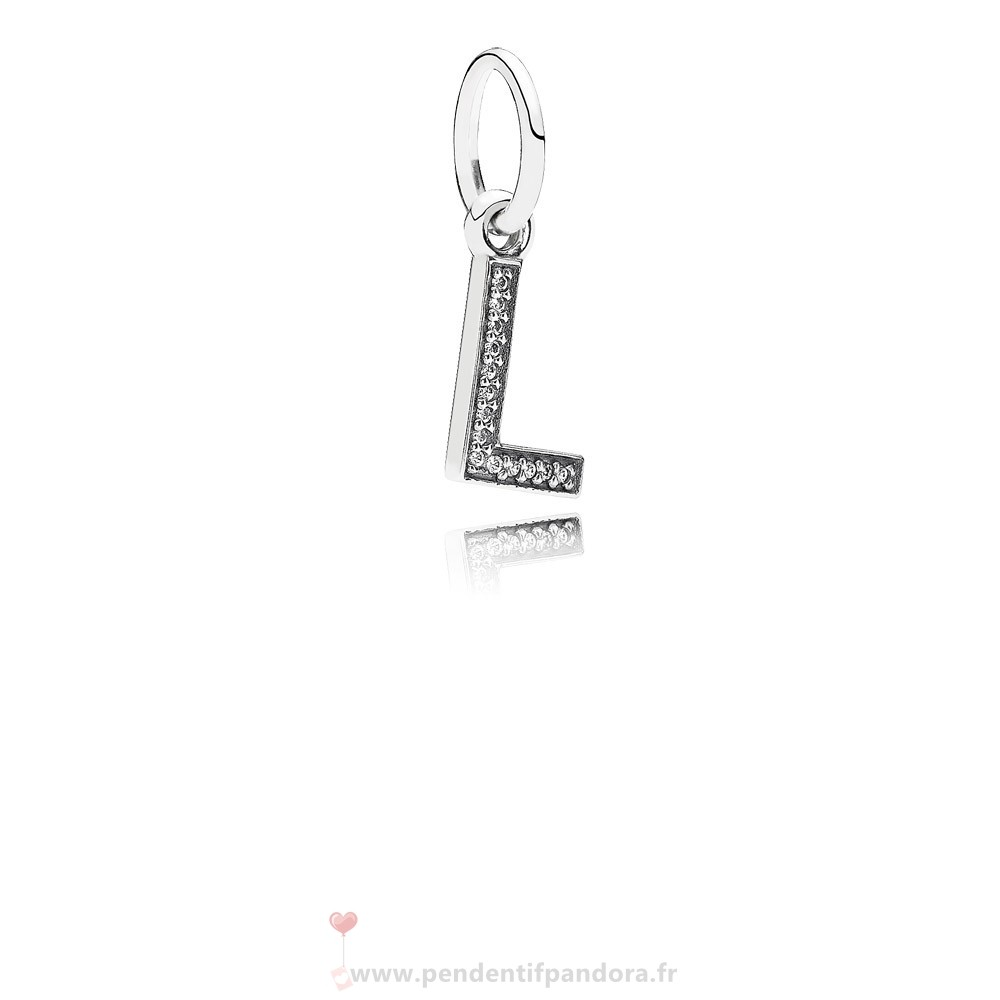 Complet Pandora Pandora Alphabet Symbols Charms Lettre L Dangle Charm Clear Cz