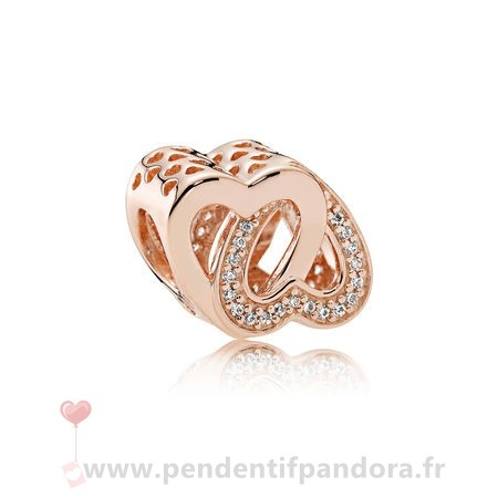 Complet Pandora Pandora Mariage Anniversaire Charms Entwined Amour Charm Pandora Rose Clear Cz