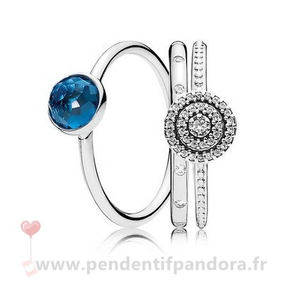 Complet Pandora Decembre Droplets Bague Empiler