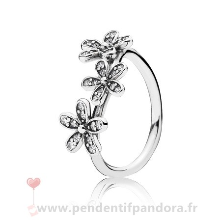 Complet Pandora Pandora Bagues Dazzies Daisies Bague Empilable Clear Cz