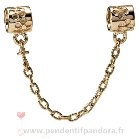Complet Pandora Pandora Chaines De Securite Fleur Charm Chaine De Securite 14K Or