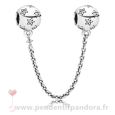 Complet Pandora Pandora Chaines De Securite Pandora 925 Etoile Safety Chain