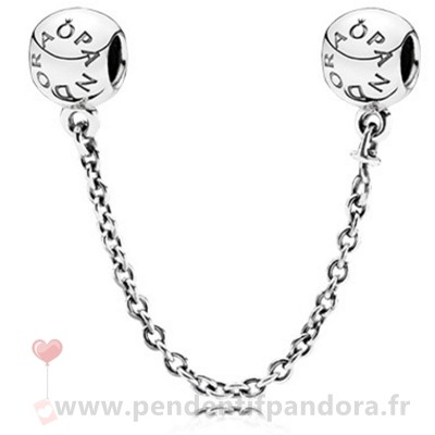 Complet Pandora Pandora Chaines De Securite Pandora 925 Logo Safety Chain