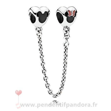 Complet Pandora Pandora Chaines De Securite Pandora 925 Mickey Et Minnie Mouse Safety Chain