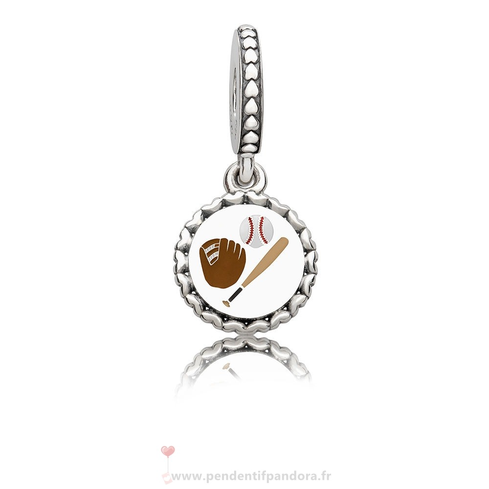 Complet Pandora Baseball Dangle Charm, Mixte Émail