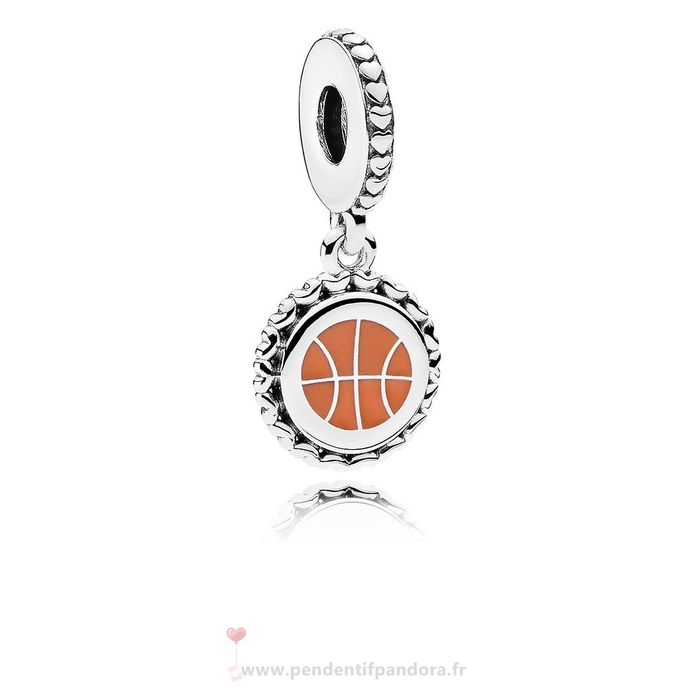 Complet Pandora Basketball Dangle Charm, Mixte Émail