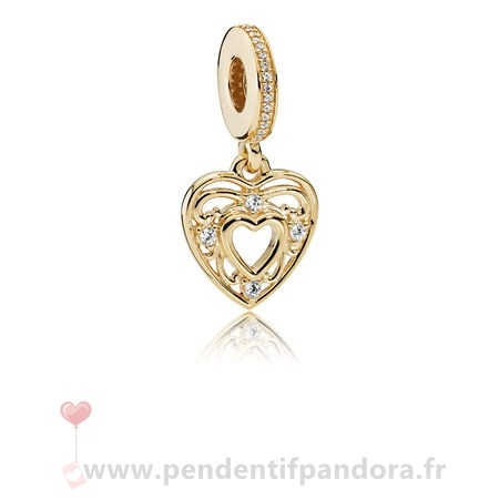 Complet Pandora Pandora Dangle Breloques Romantique Dangle Charm