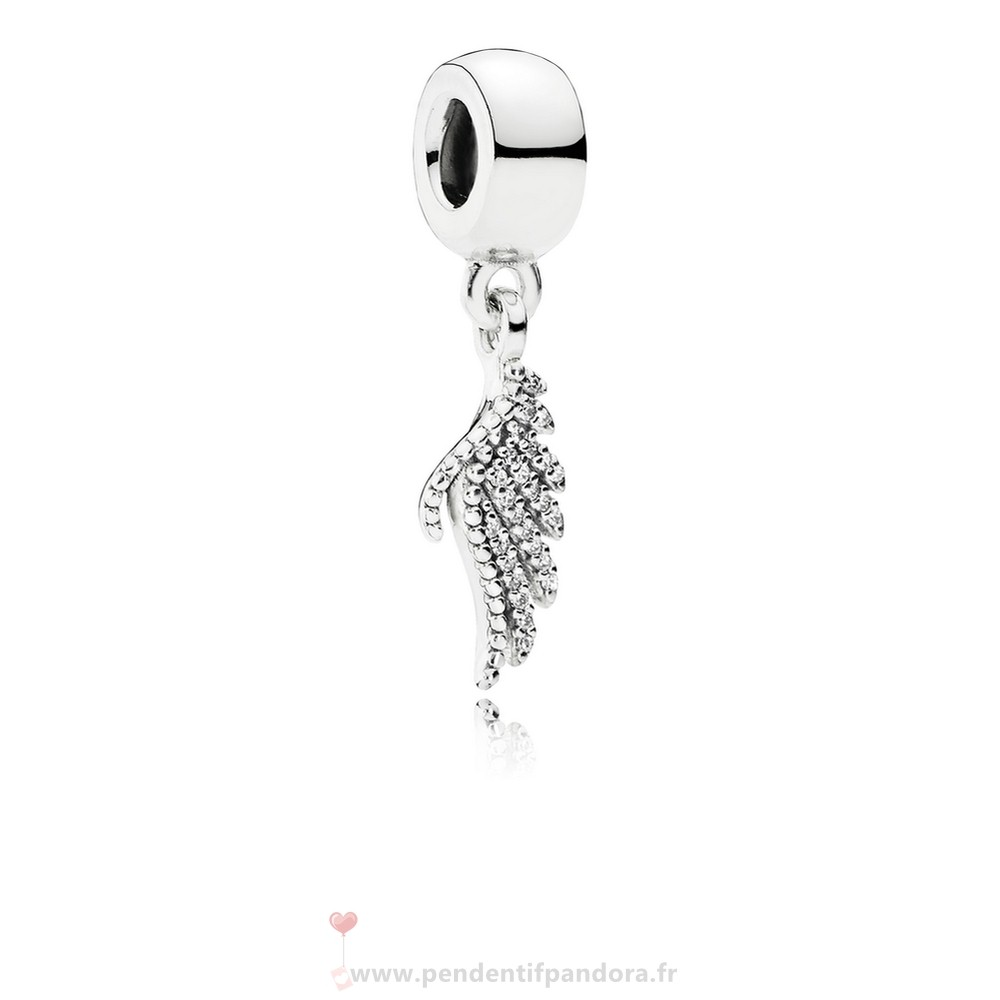 Complet Pandora Pandora Passions Charms Chic Glamour Majestueux Feather Dangle Charm Clear Cz