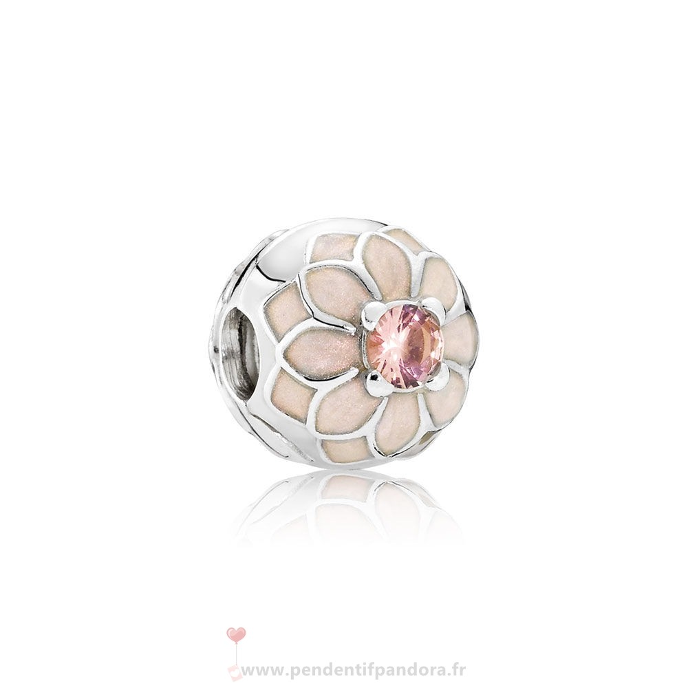 Complet Pandora Pandora Clips Breloques Blooming Dahlia Clip Creme Email Blush Rose Crystal