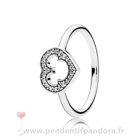 Complet Pandora Pandora Disney Collection Disney Mickey Silhouette Bague Clear Cz
