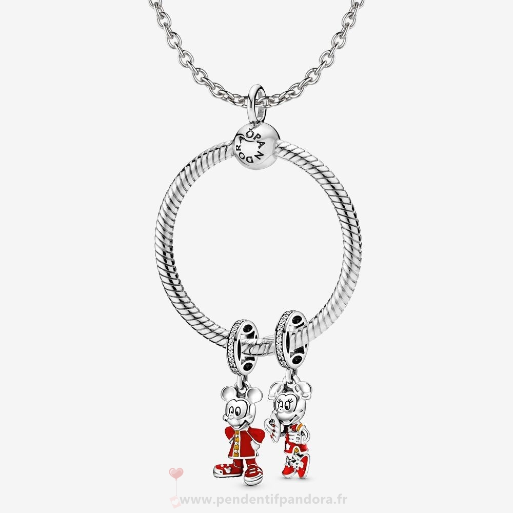 Complet Pandora Ensemble De Nouvel An Lunaire Disney Mickey Et Minnie Mouse