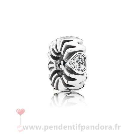 Complet Pandora Pandora Entretoises Charms Mother'S Pride Spacer Clear Cz