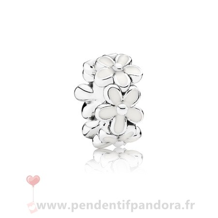 Complet Pandora Pandora Espaceurs Charms Darling Marguerites Spacer Blanc Email