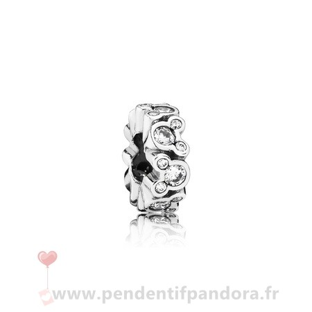 Complet Pandora Pandora Espaceurs Charms Disney Mickey All Around Spacer Clear Cz