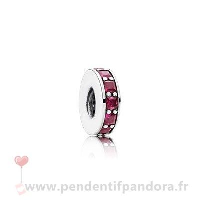 Complet Pandora Pandora Espaceurs Charms Eternity Spacer Synthetic Ruby