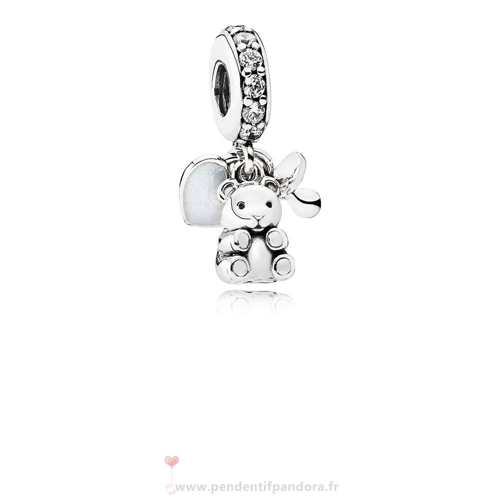 Complet Pandora Pandora Famille Charms Bebe Tresors Dangle Charm Clear Cz