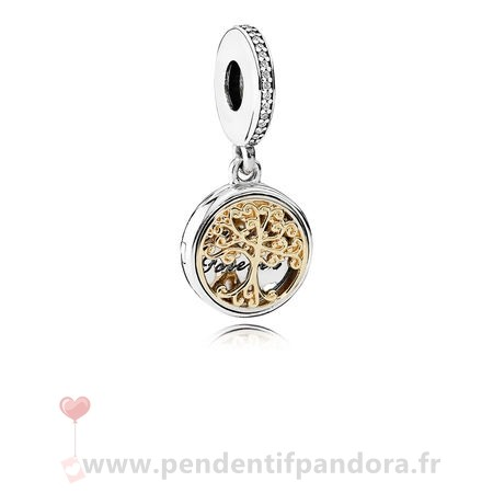 Complet Pandora Pandora Famille Charms Famille Racines Dangle Charm Clear Cz