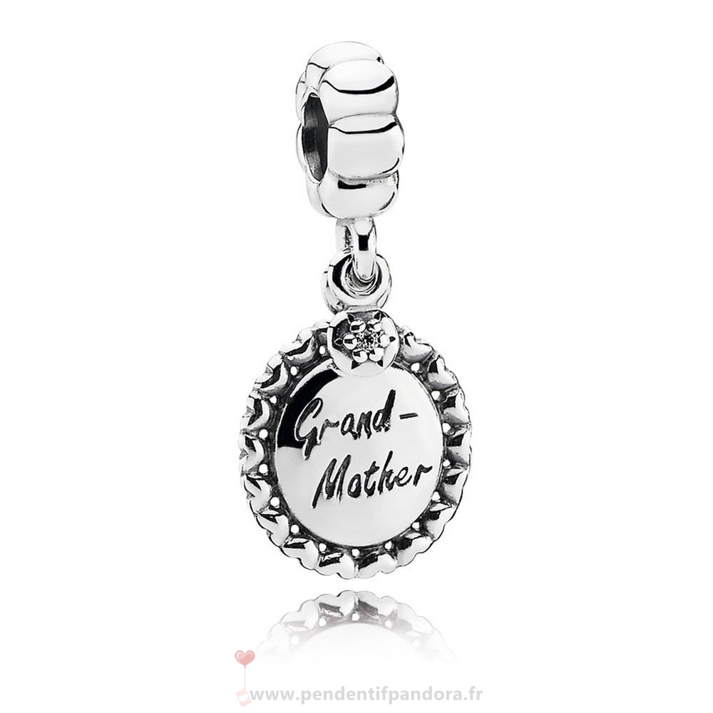 Complet Pandora Pandora Famille Charms Grand Mere Dangle Charm Clear Cz