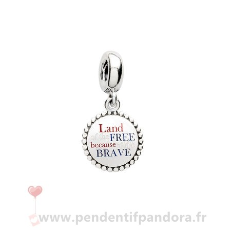 Complet Pandora Pandora Vacances Charms De Voyage Land Of The Gratuit En De La Brave Dangle Charm Red Blanc Blue Email