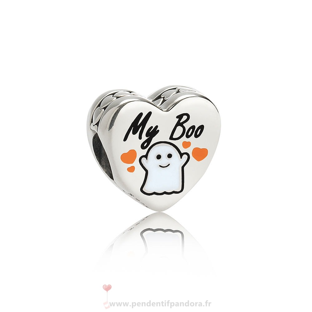 Complet Pandora Pandora Fetes Charms Halloween Ma Boo Charm Blanc Email