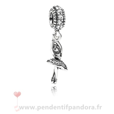 Complet Pandora Pandora Passions Charms Musique Arts Ballerine Dangle Charm Clear Cz