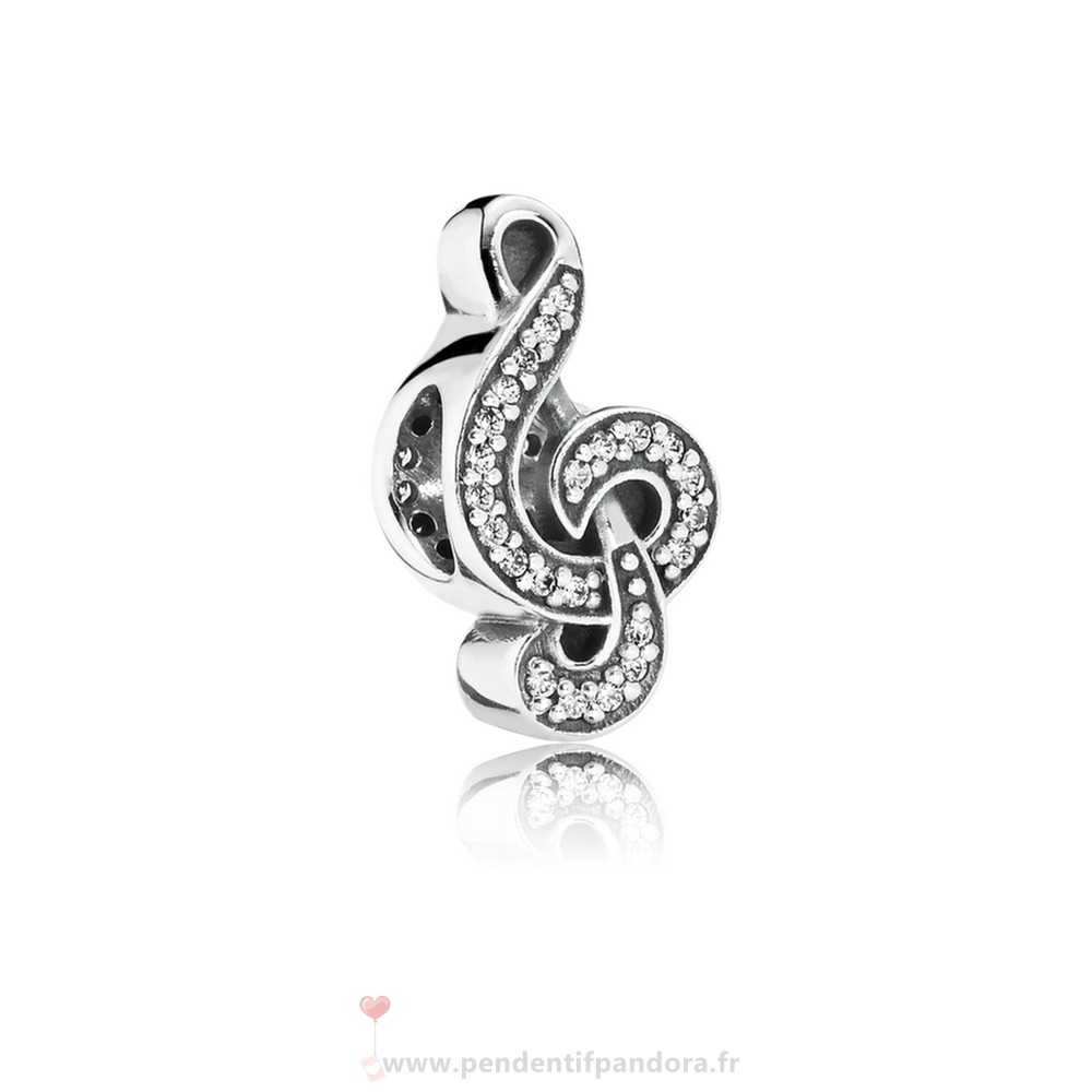 Complet Pandora Pandora Passions Charms Musique Arts Sweet Music Treble Clef Clear Cz
