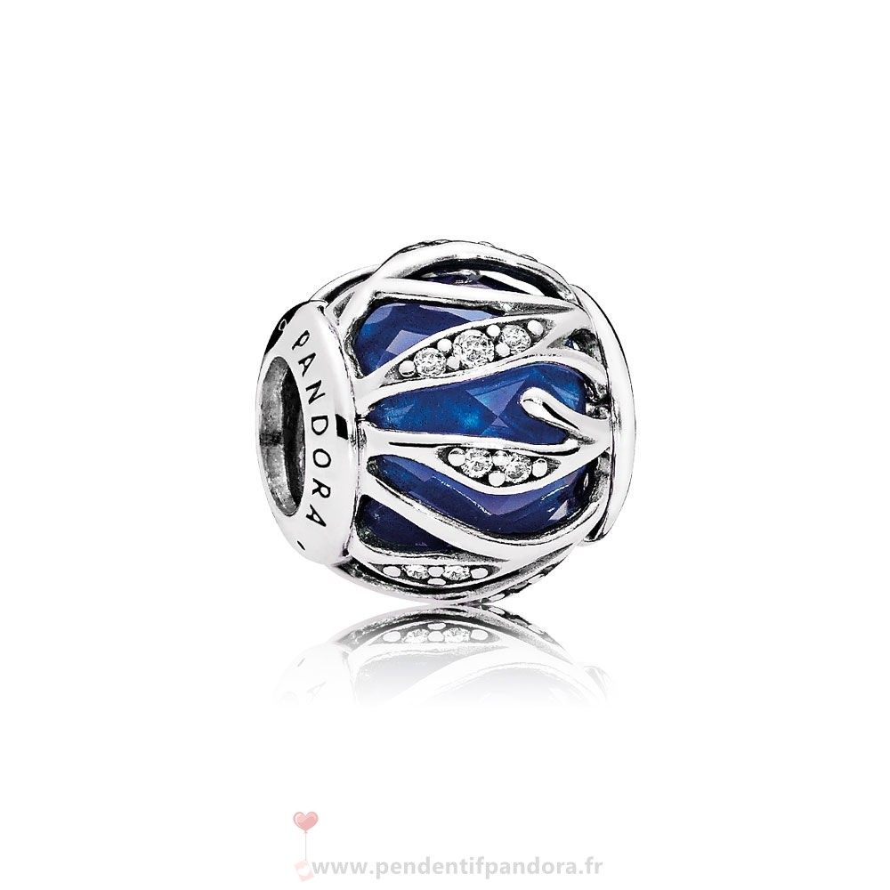 Complet Pandora Nature Breloques Nature'S Radiance Royal Blue Crystal Clear Cz Prix