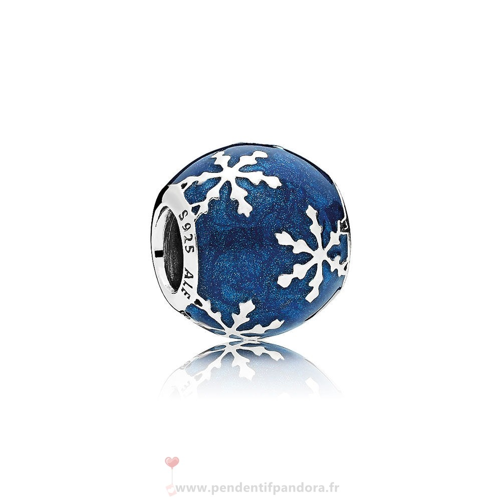 Complet Pandora Nature Charms Charme Delice Midnight Blue Enamel