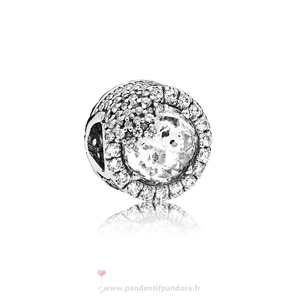 Complet Pandora Nature Charms Dazzling Flocon De Neige Clear Cz Prix