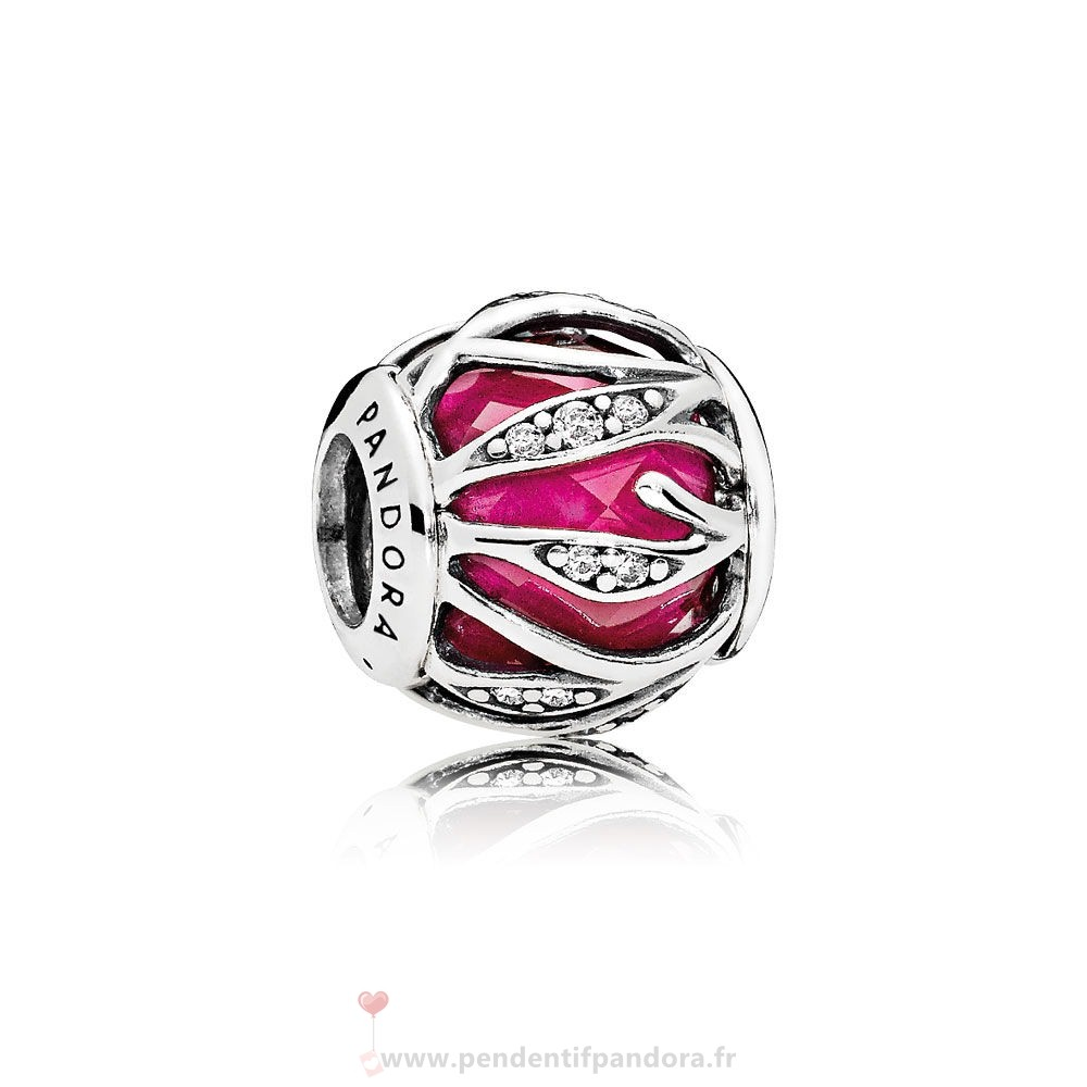 Complet Pandora Nature Charms Nature'S Radiance Synthetique Ruby Clear Cz