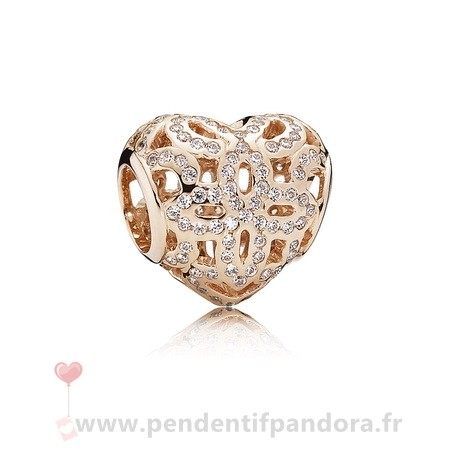 Complet Pandora Amour Appreciation Charme Pandora Rose Clear Cz