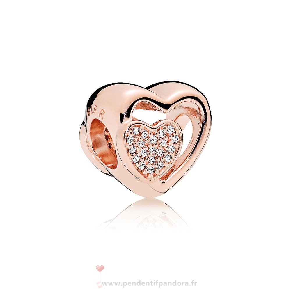 Complet Pandora Pandora Join Ensemble Charme Rose Clear Cz