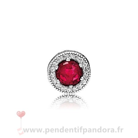 Complet Pandora Essence Passion Charme Synthetique Rubis Clear Cz