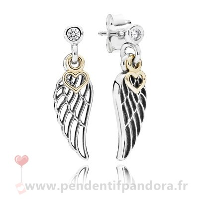 Complet Pandora Boucles D'Oreilles Amour Guidance Drop Clear Cz