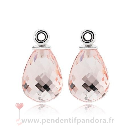 Complet Pandora Fascinating Beauty Boucles D'Oreilles Charms Rose Murano Glass