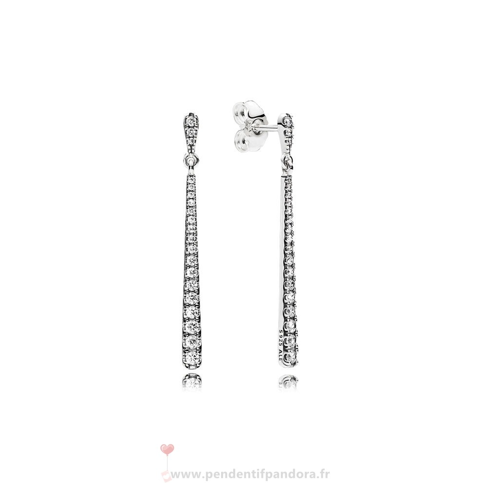 Complet Pandora Pandora Boucles D'Oreilles Boucles Dangle Etoiles Dangle Clear Cz