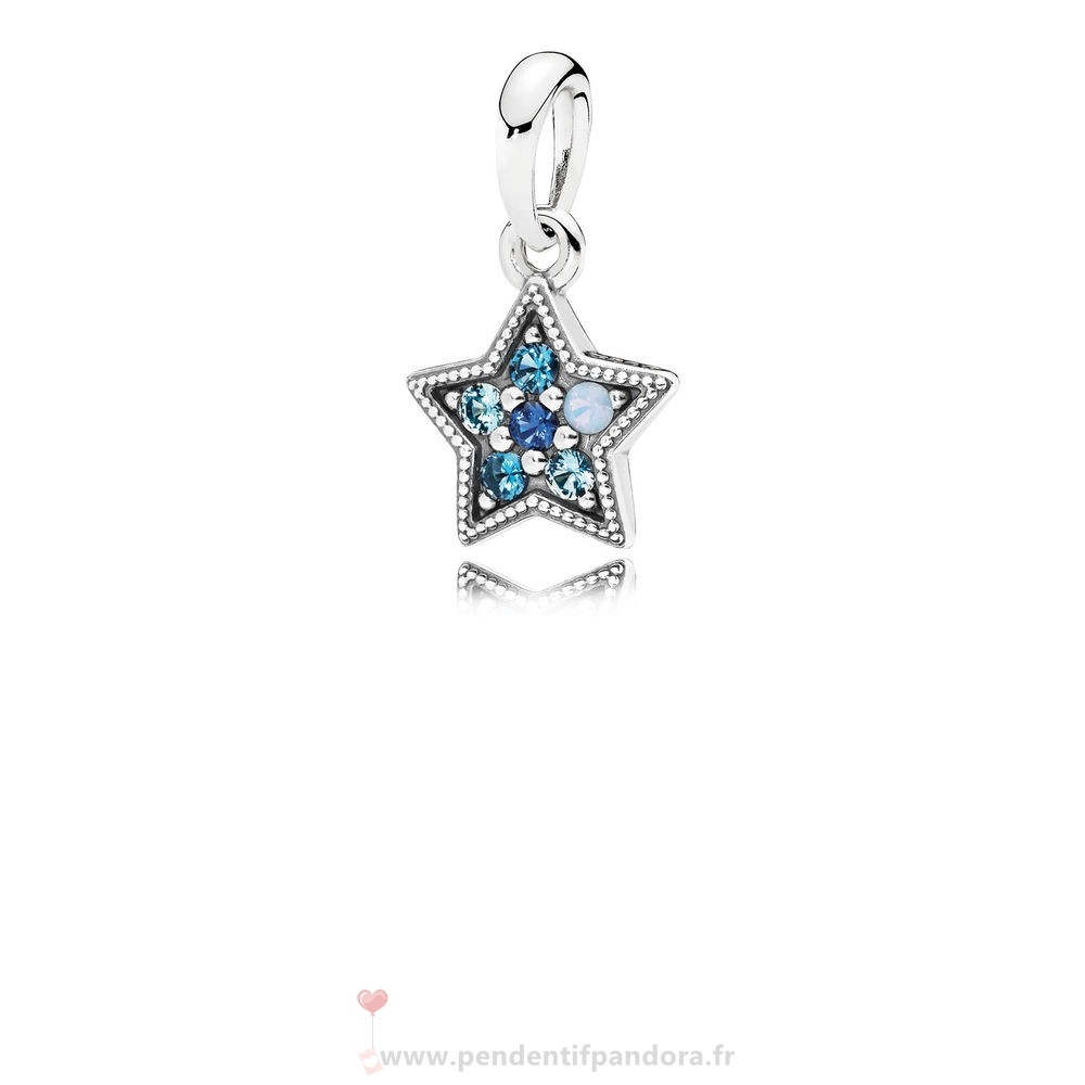 Complet Pandora Pandora Pendentifs Bright Etoile Collier Pendentif Multi Coloured Crystals