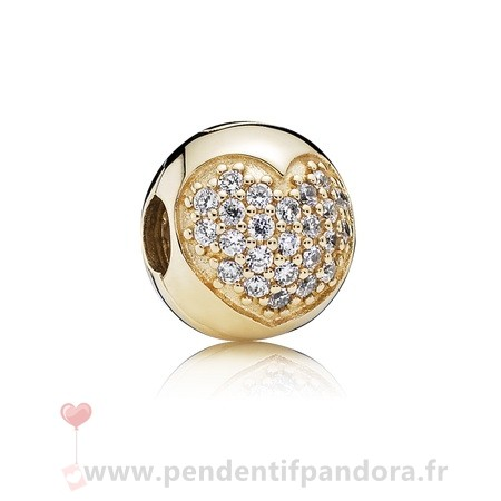 Complet Pandora Amour Of Ma Life Clip Clear Cz 14K Or
