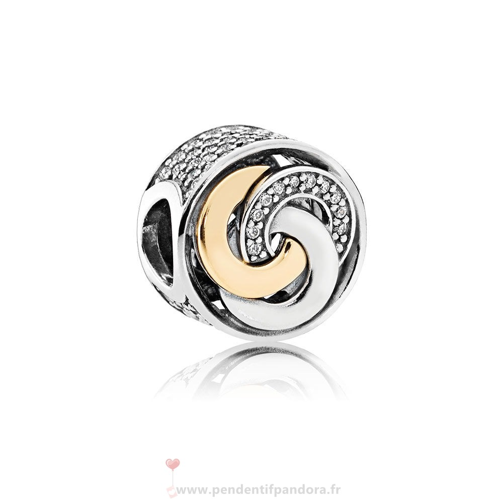 Complet Pandora Charms Contemporains Cercles Inter Charme Clear Cz