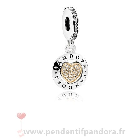 Complet Pandora Dangle Breloques Signeature Clear Cz Prix
