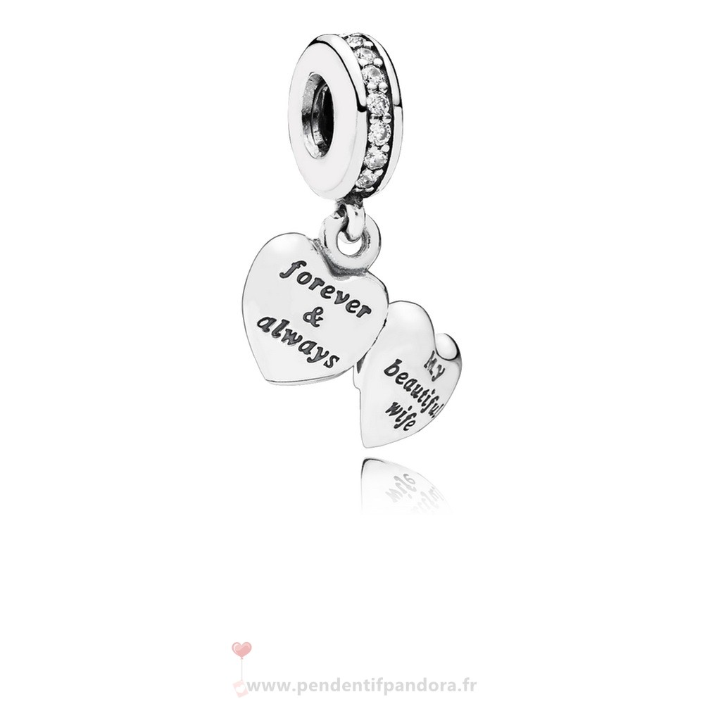 Complet Pandora Dangle Charms Ma Belle Femme Clear Cz